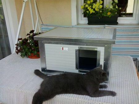 """Thermo Renato Katzehütte """"CAT"""" innengrösse (LxBxH:54x38x28cm) mit INFRAHEIZUNG"""