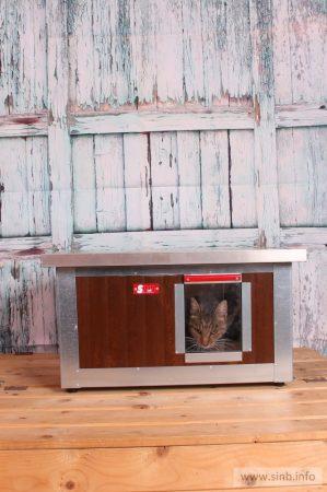 "Thermo WOODY Katzehütte ""CAT"" innengrösse (LxBxH:54x38x28cm) mit INFRAHEIZUNG"